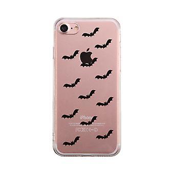 Bat Pattern Halloween Transparent Phone Case Cute Clear Phonecase