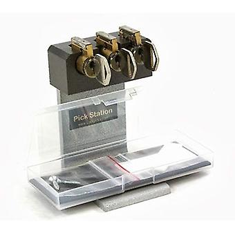 Tri Pick Practice Cylinder Lock with Cut-Away Lock practice board 5-pins