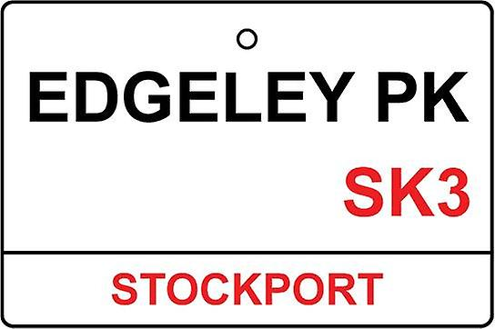 Stockport / Edgeley Pk Street Sign Car Air Freshener