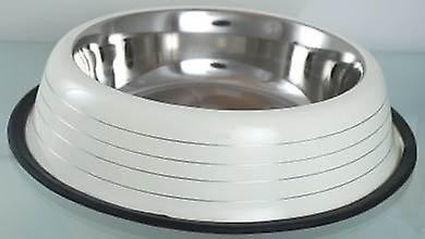 Cream Dog Bowl