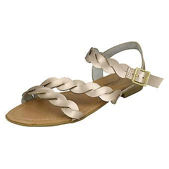 Las señoras sabana plana hebilla sandalias F00061