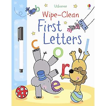 First Letters (Usborne Wipe Clean Books) (Paperback) by Brooks Felicity Hall Nicola Lamb Stacey