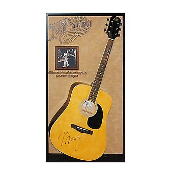 Neil Young Signed Acoustic Guitar Custom Framed