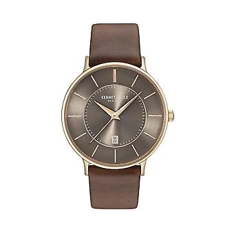 Kenneth Cole New York men's watch wristwatch leather KC15097003