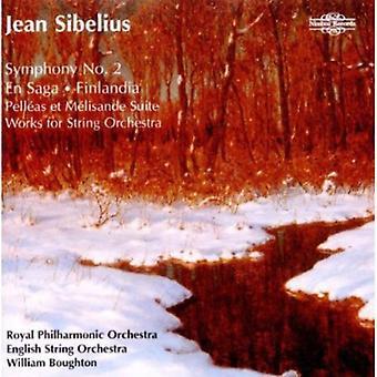 J. Sibelius - Sibelius: Sinfonía n º 2; En Saga; Finlandia; Pell Et M Lisande Suite; Importación de obras para orquesta de cuerdas [CD] los E.e.u.u.