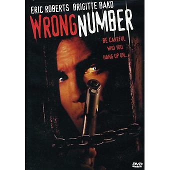 Wrong Number [DVD] USA import