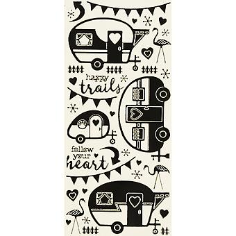 Dazzles Stickers-Retro Campers-Black DAZ-2589