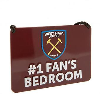 West Ham United Bedroom Sign No1 Fan