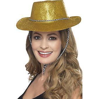 Cowboy glitter Hat Western lue én størrelse