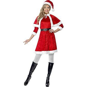 Miss Santa Plüsch Kostüm Nikolaus Damen Weihnachten