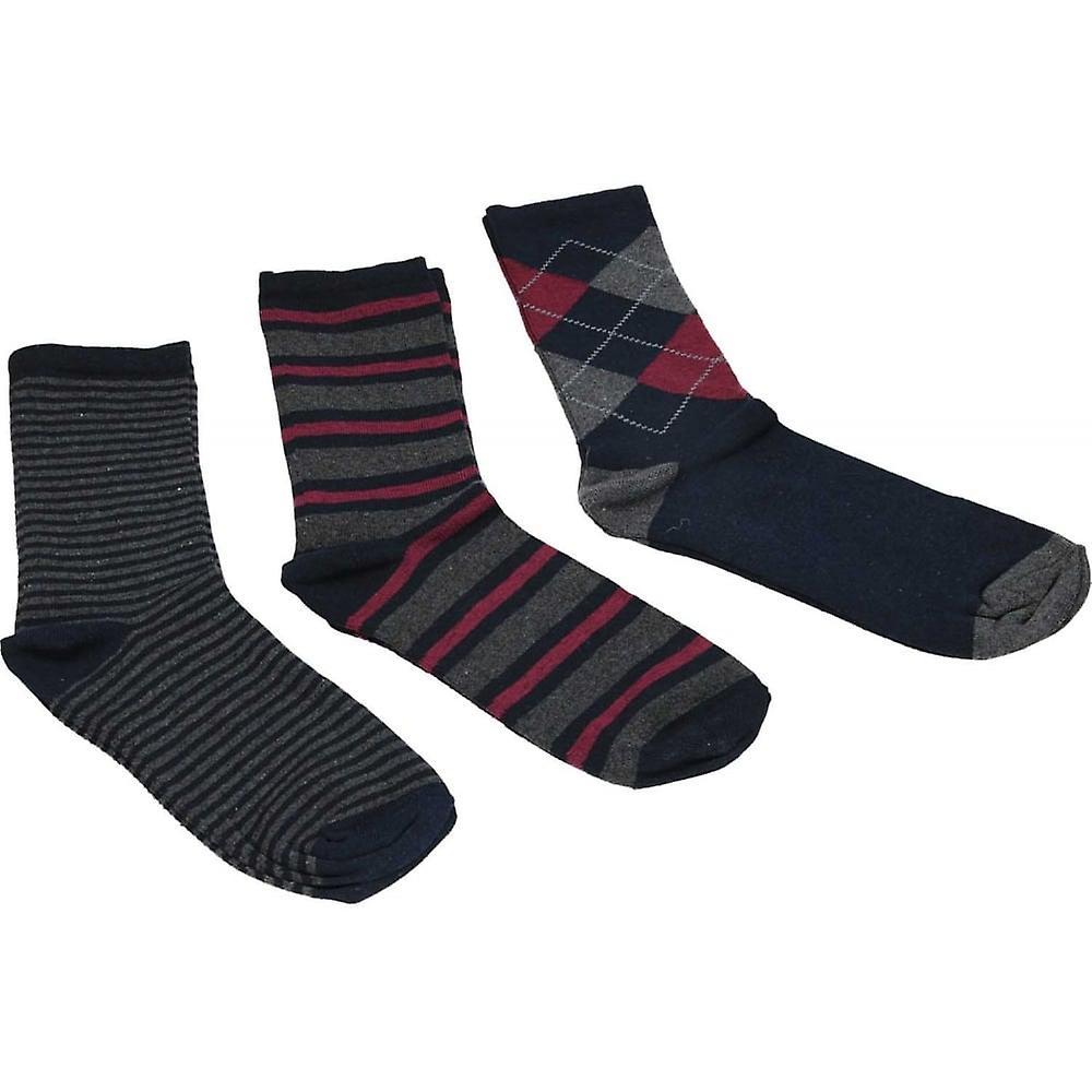 Always Fresh Mens Multi-Pack Soft Cotton Blend Multi Coloured Striped Socks
