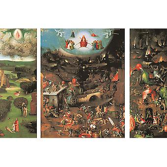 Hieronymus Bosch - The Last Judgement Poster Print Giclee