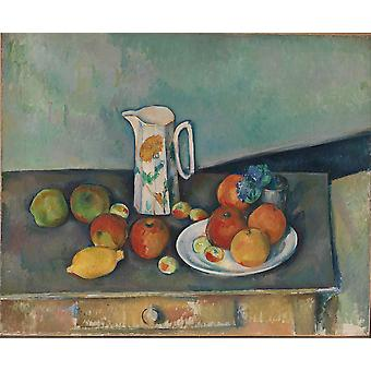 Paul Cezanne - Still life on Table Poster Print Giclee