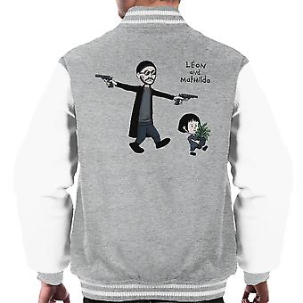 Leon And Mathilda The Professional Calvin And Hobbes Men's Varsity Jacket