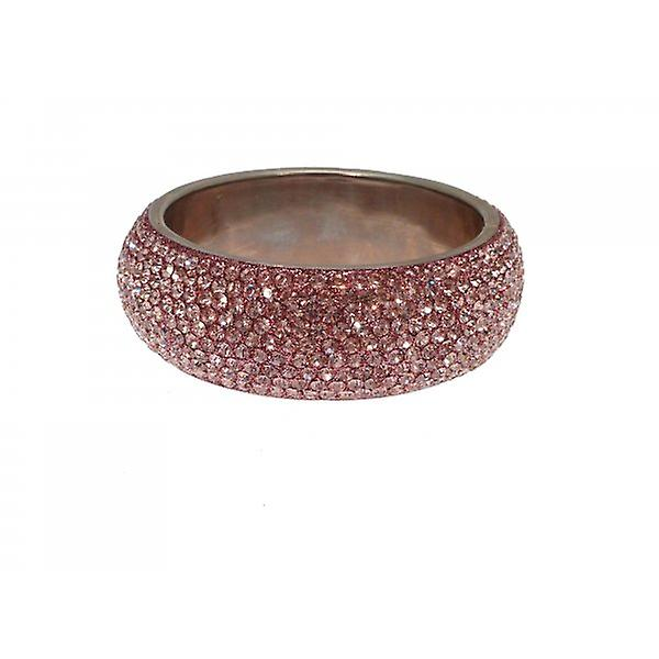 W.A.T Chunky Crystal Bangle Pale Pink Crystals