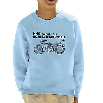 Haynes Owners Workshop Manual BSA A10 650 Golden Flash Kid's Sweatshirt