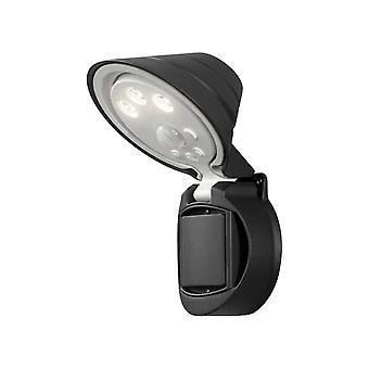Konstsmide Prato batterij aangedreven LED Sensor veiligheid Floodlight zwart