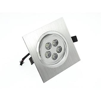 I LumoS High Quality Epistar 5 Watts Silver Square Aluminium Warm White LED Tiltable Recessed Spot Down light
