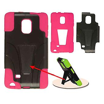Jelly Case. Magenta Skin and Black Snap with Stand