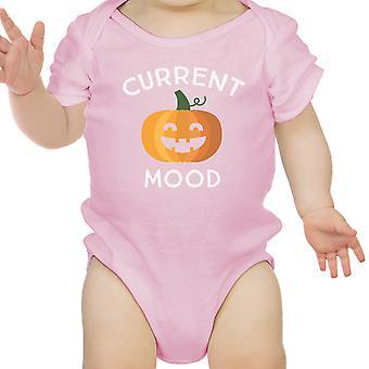 Pumpkin Current Mood Pink Bodysuit Halloween Costume First Halloween