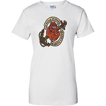 USMC Marine Corps Bulldog Anker Tattoo - Damen-T-Shirt