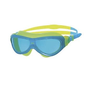 Zoggs Phantom Junior Swim Mask 6-14yrs- Tinted Lens - Blue/Yellow Frame
