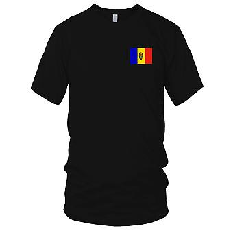 Moldova Country National Flag - Embroidered Logo - 100% Cotton T-Shirt Ladies T Shirt