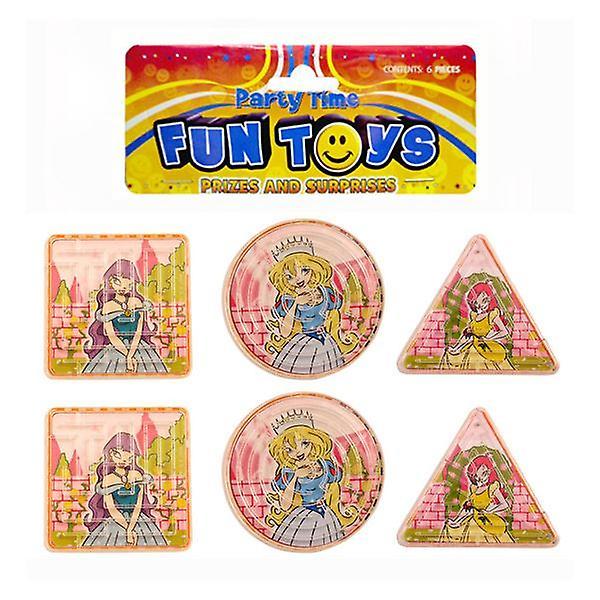 Bag of 6 Princess Puzzle Mazes