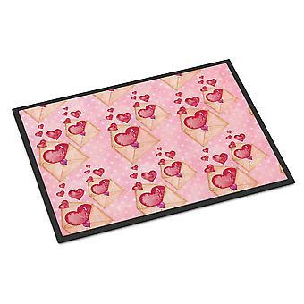 Aquarell rosa Liebe Brief Indoor oder Outdoor Mat 24 x 36