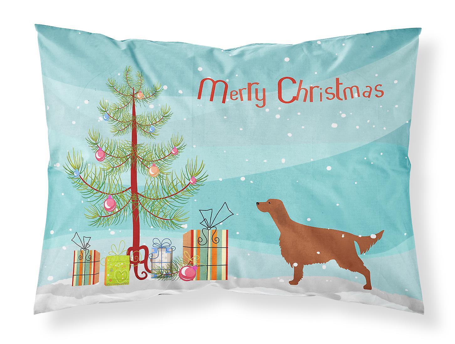 Setter Irlandais Tissu Taie Standard De Merry D'oreiller Christmas Tree zMqVUSpLG