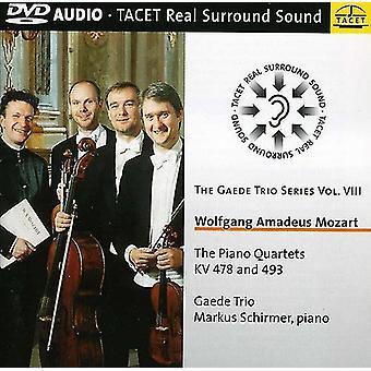 W.a. Mozart - Mozart: The Piano kvartetter Kv 478 og 493 [DVD-Audio] USA importerer