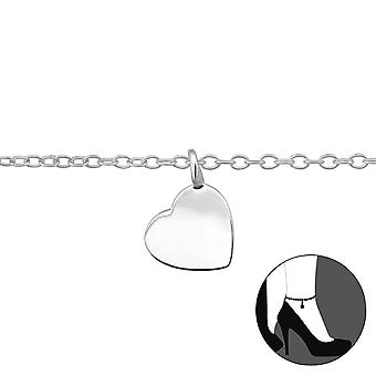 Heart - 925 Sterling Silver Anklets - W29976x