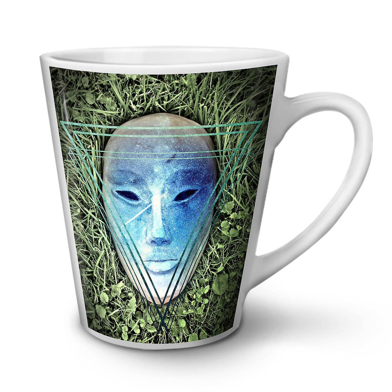 Mystic Tea Being Coffee 12 Ceramic New OzWellcoda Latte Mask Mug White jAL34R5