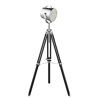 Adjustable Chrome And Black Stage Lamp - Searchlight 3013
