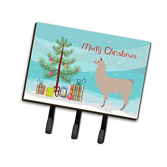 Carolines Treasures  BB9283TH68 Llama Christmas Leash or Key Holder