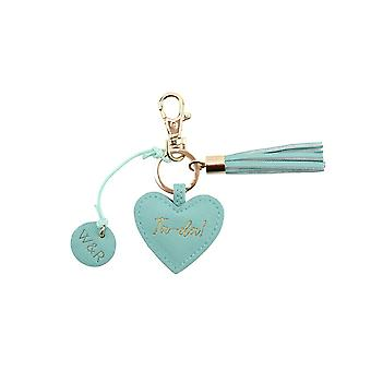 CGB Giftware Willow And Rose Ta Da Teal Keyring