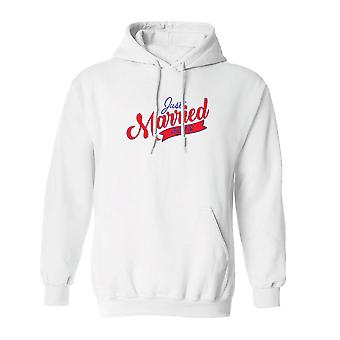 Valentine's Day Just Married 2018 Graphic Men's Hoodie