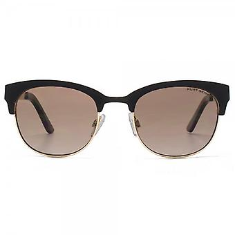 Kurt Geiger Rebecca Metal Preppy Sunglasses In Matte Black Gold