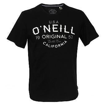 O'Neill Elements Original Organic Cotton Crew-Neck T-Shirt, Black Out