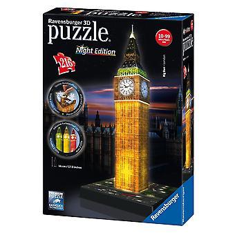 Big Ben - édition de la nuit, de Ravensburger 216pc 3D puzzle