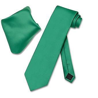 Vesuvio Napoli Solid slips lommetørklæde mænds hals Tie sæt