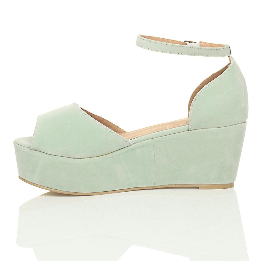 Ajvani womens low mid heel block block block wedge platform flatform sandals shoes c62def
