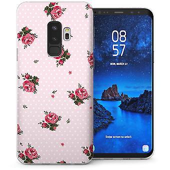 Samsung Galaxy S9 Plus Rose Retro Polka Dot Print TPU Gel Case – Pink