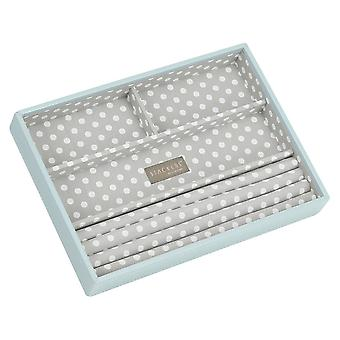Stackers Duck Egg & Grey Polka Classic 4 Section Jewellery T