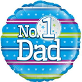 Oaktree 18 Inch Holographic Foil Number 1 Dad Balloon