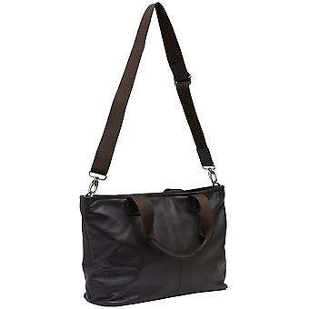 Burgmeister ladies shoulder bag T206-115A leather dark brown