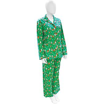 Christmas Womens/Ladies Festive Santa And Rudolph Pyjamas