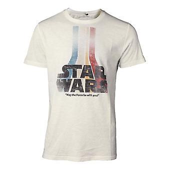 メンズ スターウォーズの力を目覚めさせるレトロな虹のロゴ t シャツ小さい TS061675STW S