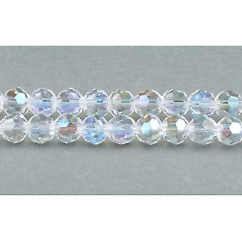 Strand 70+  Clear Czech Crystal Glass 6mm AB Faceted Round Beads GC3544-2