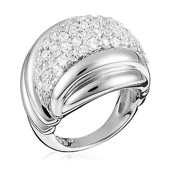 Orphelia plata 925 anillo multilíneas circonio ZR-3615